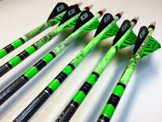 Custom neon green and black hydro dip with neon green and black crest