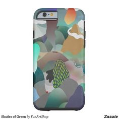 Shades of Green Tough iPhone 6 Case
