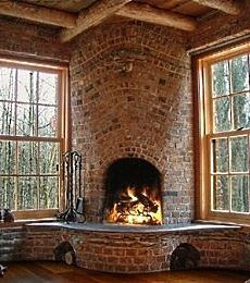 #Fireplaces are a gorgeous decor piece when done with thought and soul. Ambiance could be created with a unique detail like a fireplace.