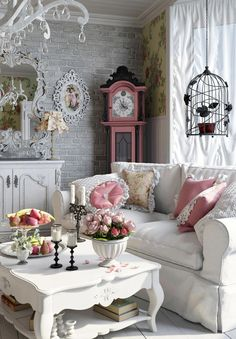 4 Good-Looking Tips AND Tricks: Shabby Chic Nursery Colors modern shabby chic living room.Shabby Chic Living Room Pink shabby chic pattern home decor. Shabby Chic Decor Living Room, Shabby Chic Curtains, Shabby Chic Frames, Shabby Chic Interiors, Shabby Chic Bedrooms, Shabby Chic Kitchen, Shabby Chic Furniture, Room Decor, Antique Furniture