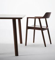 Hiroshima Arm Chair and Dining Table by Naoto Fukasawa