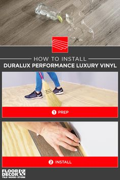 Learn about DuraLux Performance Luxury Vinyl, including how to install! Wood Stone, Floor Decor, Luxury Vinyl, Flooring, Learning, Tips, Products, Studying, Wood Flooring