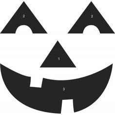 Halloween Pumpkin Carving Template Smiley Face  Halloween