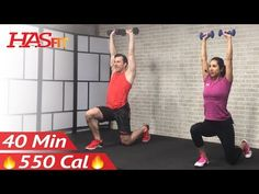 40 Min Tabata HIIT Workout with Weights + Abs: Full Body Dumbbell High Intensity Workout at Home - YouTube