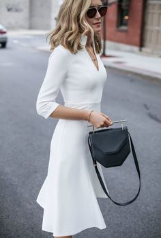 mary orton classic ivory dress Work outfits for dresses casual outfits classy fashions lovely 2019 fall dress outfits Business Outfit Frau, Business Casual Attire, Business Attire For Young Women, Business Dresses, Fashion Mode, Work Fashion, Fashion Trends, Dress Fashion, Fashion Black