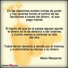 """El control con el dinero es igual a cualquier otro """"tipo de violencia"""" #amorNOes #amor #mujer #ayuda #ahorayalosabes"""