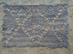 Evenstar Swatch lace knitting stitch