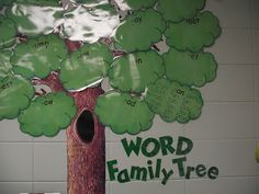 Love this for displaying word families!