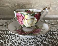 Queen Anne Lady Sylvia Tea Cup and Saucer
