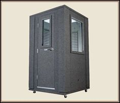 Home recording studio booth: Wouldn't we all love to have one of these?