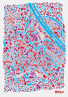 City Map Poster Vienna by Nina Simone Wilsmanns (VianinaPoster on Etsy)