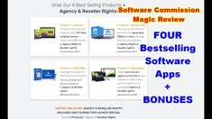 Software Commission Magic Review - FOUR Bestselling Software Apps Software Apps, Way To Make Money, Magic, Tools, Things To Sell, Education, Business, Instruments, Store