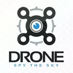 Drone logo for sale with exclusivity on stocklogos.com