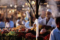 Food stall at Djemma el-Fna