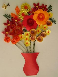 bouquet of flowers - Quilled