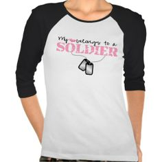 My heart belongs to a Soldier Tee Shirts