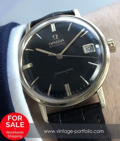Serviced Massivly gold plated Omega Seamaster Automatik with black dial