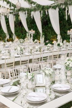 This luxe destination wedding in Athens has it all! From the stunning tented reception with geometric chandeliers to the epic dessert table we're in LOVE. Crystal Wedding Decor, Luxe Wedding, Seaside Wedding, Floral Wedding, Wedding Colors, Destination Wedding, Wedding Breakfast Decor, Wedding Vendors, Weddings