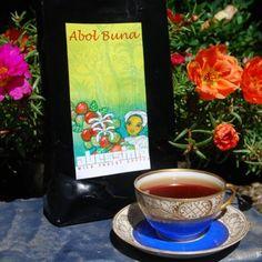 "Kaffee ""Abol Buna"" - gemahlen #ProEthiopia #Aspermühle Creme, Tableware, Coffee Flower, Pour Over Coffee, Beans, Packaging, Dinnerware, Tablewares, Dishes"