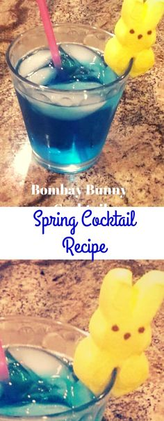 A fun Easter cocktail idea that also works for any spring cocktail. So cute!