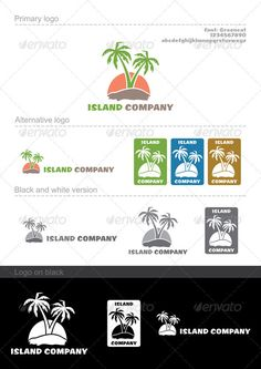 Island company — Vector EPS #design #print • Available here → https://graphicriver.net/item/island-company/681205?ref=pxcr