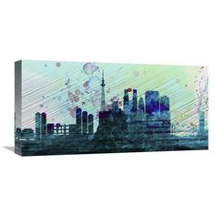 Naxart 'Tokyo City Skyline' Painting Print on Wrapped Canvas Size: