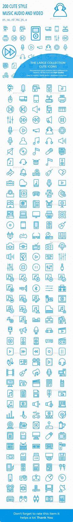 Music, Audio, Video Cute Style icon
