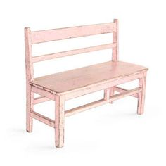 Vintage Pink Bench- would look adorable at the foot of Joselyn's bed for her stuffed animals