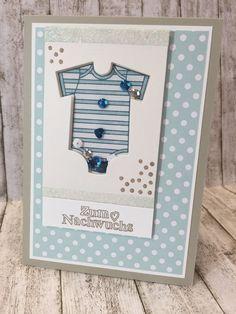 #GDP024 Babykarte Schüttelkarte blau