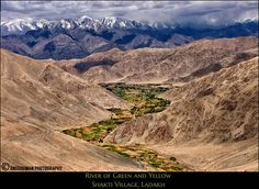 River of Green by Angshuman Chatterjee on 500pxShakti Village is located in the sinuous valley, 46 Km from Leh, the capital of Ladakh, The mountians in the background are the Stok ranges of the Himalayas