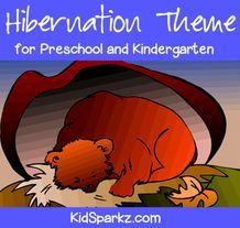 This is a collection of activity printables and ideas for a hibernation theme for preschool, pre-K and Kindergarten children and teachers.