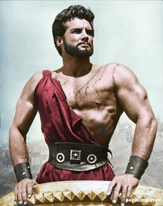 The Trojan Horse, 1961 - Steve Reeves Steve Reeves, Hollywood Men, Vintage Hollywood, Classic Hollywood, Epic Movie, Movie Tv, Romulus Et Remus, Cinema, Hercules