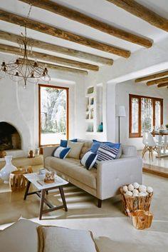 gemütliche wohnzimmer-einrichtung im gemütlichen, mediterranen ... - Einrichtungsideen Wohnzimmer Mediterran