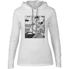 Mintage Praying Mother and Child Womens Fine Jersey Hooded T-Shirt