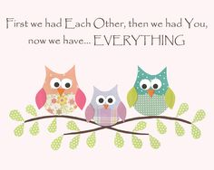 Owls First we had each other Nursery or children by LullabyArt, $12.00