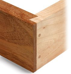 Rabbeted Dovetail Joint - is a half-version of a sliding dovetail reinforced with dowels. by finewoodworking.com