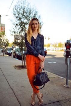 Mango shirt, Romwe pants, Sofia CoppolaXLouis Vuitton bag, Valentino shoes