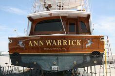 #TRANSOM: Ann Warrick, Midlothian Virginia #Boat #Transom #BoatTransom  TRANSOM #TECHNIQUE: #GoldLeaf #CustomGraphics    #BOAT #BUILDER #BoatBuilder: #PaulMannCustomBoats, #Mann'sHarbor, #NorthCarolina