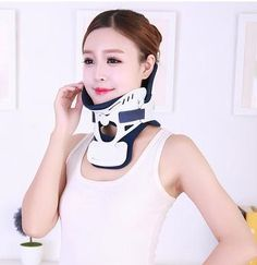 97.60$  Watch here - http://ali2xy.worldwells.pw/go.php?t=32784213693 - Adult men and women home Neck collar correction strength neck fixed support cervical adjustable neck guard 97.60$