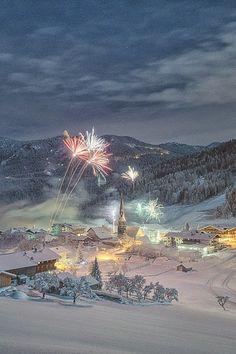 Wow! Fireworks in winter!