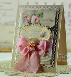 Becca Feeken, Amazing Paper Grace, elegant card with Spellbinder's dies and Our Daily Bread stamps