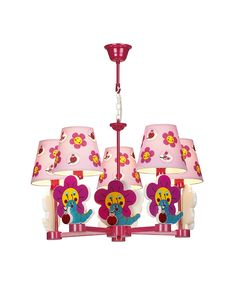 5 Lights Flowers & Worms Theme Chandelier for Children's Room