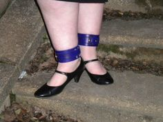 Victorian asylum restraints in purple hand dyed leather with brass   £20.00 a pair, fits wrist and ankle