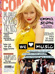 Company Magazine. The April 2013 issue has Emma Stone on the cover and she's my favourite actress!