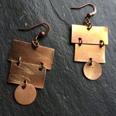 Copper chandelier earrings by ChicMetalJewelry on Etsy