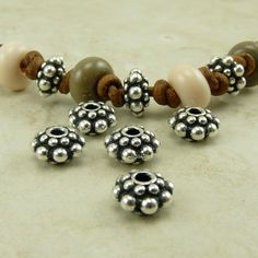 5 TierraCast Bali Style Panten Beads > Bali Style Large Spacer - Fine Silver Plated Lead Free Pewter - I ship Internationally 5678