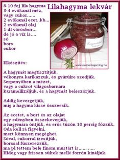 Lilahagyma lekvár bioboblt lapunk.hu Torte Cake, Freeze Drying, Canning Recipes, Plant Based Recipes, Frozen, Favorite Recipes, Sweets, Meals, Vegan