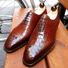 """ascotshoes: """" A splendid Wholecut Alligator by Vass. Vass Model: Oxford Wholecut Vass Last: U Vass Colour: Antique Cognac Calf Use hashtags for all Vass Shoes: #Vassshoes #Ascotshoes #Vasslondon..."""