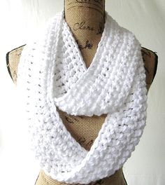 True White Snow Handmade Crochet Knit by SouthernStitchesCo, $22.00