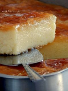 Food for thought: Γαλακτομπούρεκο Greek Sweets, Greek Desserts, No Cook Desserts, Greek Recipes, Dessert Recipes, Galaktoboureko Recipe, Greek Cake, Cyprus Food, Low Calorie Cake
